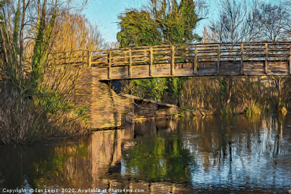 Footbridge Over The Kennet Canvas print by Ian Lewis
