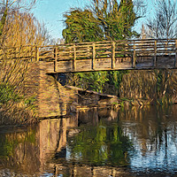 Buy canvas prints of Footbridge Over The Kennet by Ian Lewis