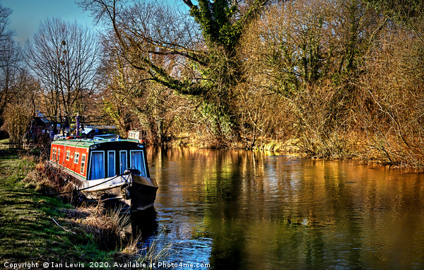 The Kennet In January Sunshine Canvas print by Ian Lewis