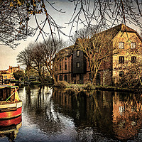 Buy canvas prints of Above Newbury Town Lock by Ian Lewis