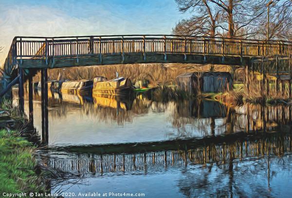 New Monkey Bridge At  Newbury Canvas print by Ian Lewis
