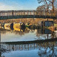 Buy canvas prints of New Monkey Bridge At  Newbury by Ian Lewis