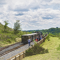Buy canvas prints of The Brecon Mountain Railway by Ian Lewis