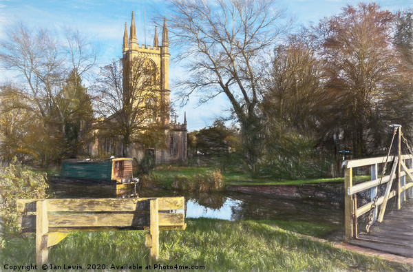 Church By The Canal Hungerford Art Print by Ian Lewis