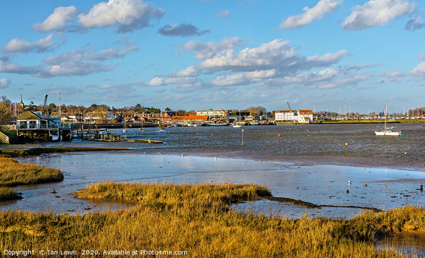 The River Deben Approaching Woodbridge Canvas Print by Ian Lewis