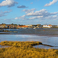 Buy canvas prints of The River Deben Approaching Woodbridge by Ian Lewis
