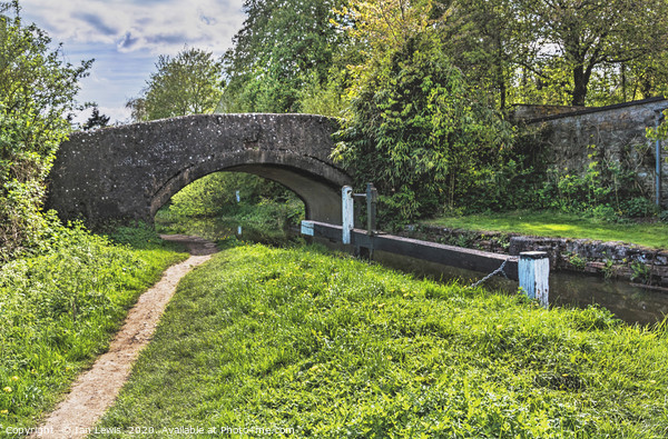 Shipton on Cherwell Canal Bridge Canvas Print by Ian Lewis