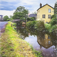 Buy canvas prints of Approaching Brecon By Canal Digital Art by Ian Lewis