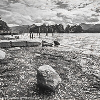 Buy canvas prints of Rocky Derwentwater Shore by Ian Lewis