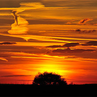 Buy canvas prints of Cley Sunset by Paul Betts