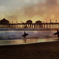 Buy canvas prints of  California Surf by Debra Souter