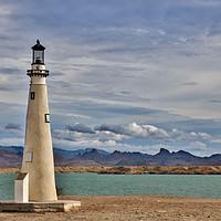 Buy canvas prints of Lighthouse on Lake Havasu by Debra Souter