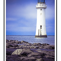Buy canvas prints of New Brighton Lighthouse by Dave Cullen