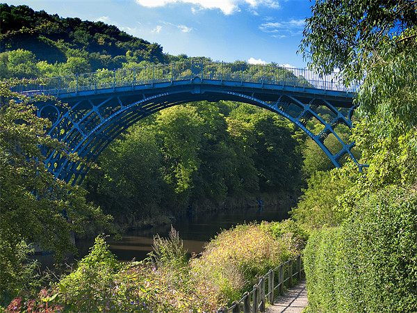 The Ironbridge, Shropshire Canvas Print by Paul Fisher