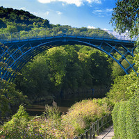 Buy canvas prints of The Ironbridge, Shropshire by Paul Fisher