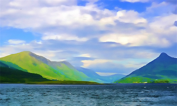 Scottish Loch watercolour Canvas print by Paul Fisher