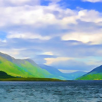 Buy canvas prints of Scottish Loch watercolour by Paul Fisher