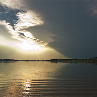 Buy canvas prints of Rutland Water sunset by Paul Fisher