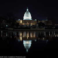 Buy canvas prints of US Capitol Building Reflection by Jon Kondrath