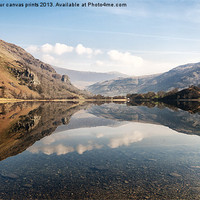 Buy canvas prints of Reflection at Llyn Gwynant by carl barbour canvas prints
