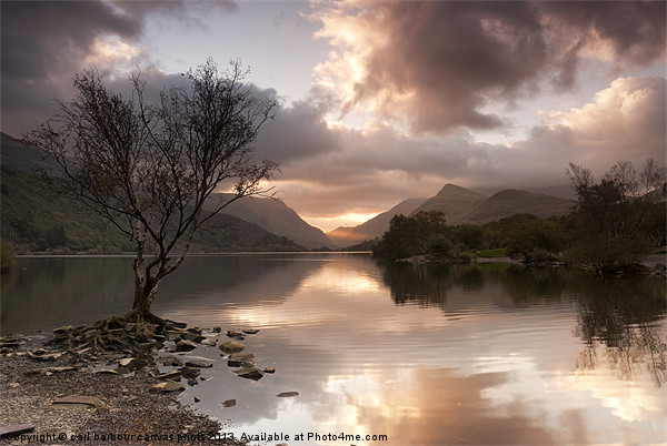 Sunrise over Llyn Padarn Canvas print by carl barbour canvas prints