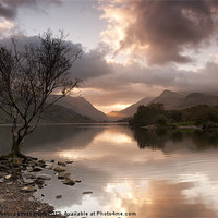 Buy canvas prints of Sunrise over Llyn Padarn by carl barbour canvas prints