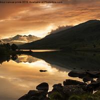 Buy canvas prints of Sunset at Llynnau Mymbyr by carl barbour canvas prints