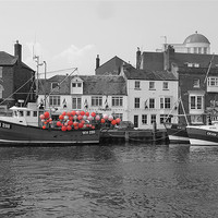 Buy canvas prints of Weymouth Fishing Boat by Mark Chance