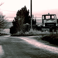 Buy canvas prints of Abandoned farm truck by Simon Underwood