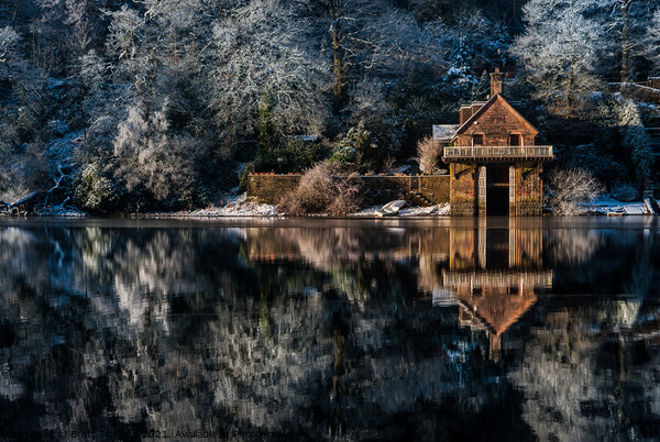 Winter Boat House Framed Print by Brett Trafford