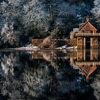 Buy canvas prints of Winter Boat House by Brett Trafford