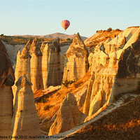 Buy canvas prints of Hot Air Balloon at Sunrise by Carole-Anne Fooks