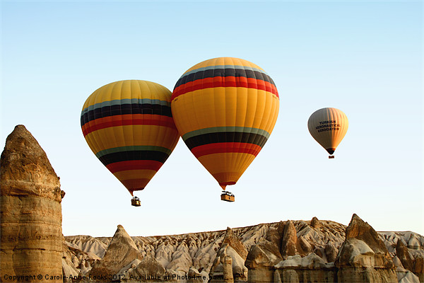 Hot Air Ballooning Canvas print by Carole-Anne Fooks
