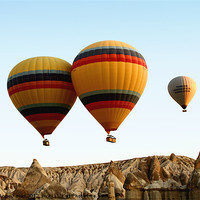 Buy canvas prints of Hot Air Ballooning by Carole-Anne Fooks