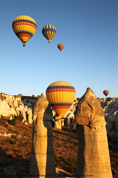 Ballooning in The Valley of Love Canvas print by Carole-Anne Fooks