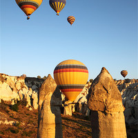 Buy canvas prints of Ballooning in The Valley of Love by Carole-Anne Fooks