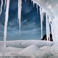 Buy canvas prints of Ice Cave Cape Hallett Antarctica by Carole-Anne Fooks