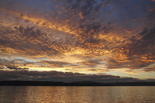 Sunset on the Beagle Channel Canvas print by Carole-Anne Fooks