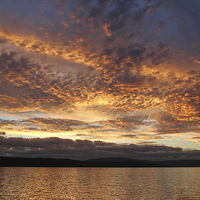 Buy canvas prints of Sunset on the Beagle Channel by Carole-Anne Fooks