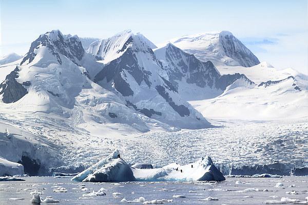 Cierva Cove Glaciers & Iceberg Canvas print by Carole-Anne Fooks