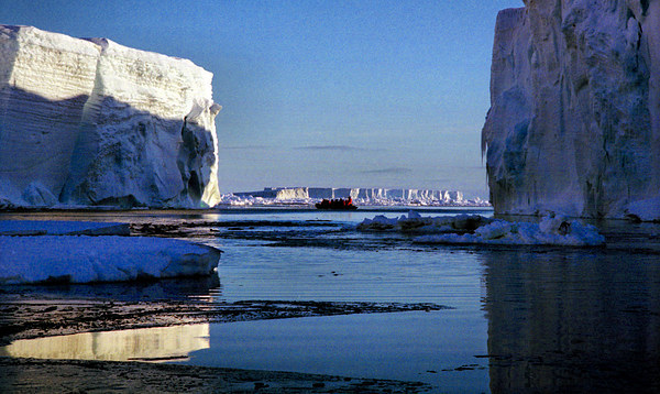 Tabular Icebergs, Cape Roget, Antarctica Canvas print by Carole-Anne Fooks