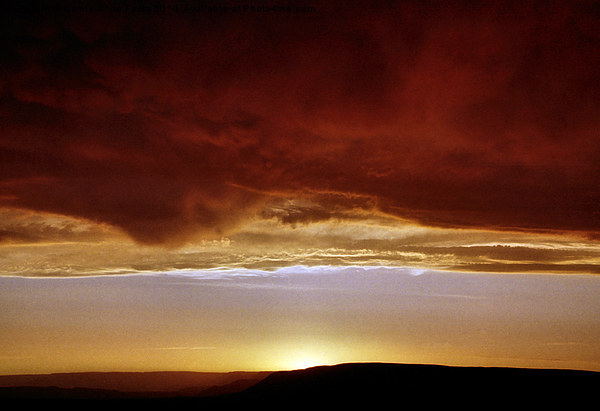 Underneath Stormclouds: Sunset at Fish River Canyo Canvas print by Carole-Anne Fooks