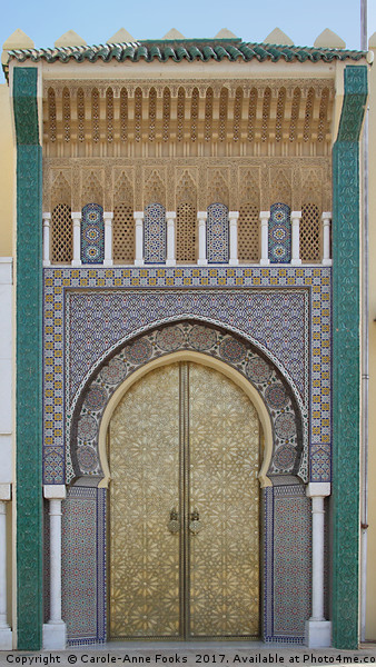 Doors of Beauty, Fes, Morocco Canvas print by Carole-Anne Fooks