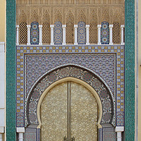 Buy canvas prints of Doors of Beauty, Fes, Morocco by Carole-Anne Fooks