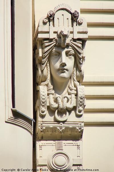 Art Nouveau Architecture   Canvas print by Carole-Anne Fooks
