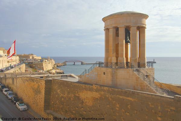 Siege Bell War Memorial, Valletta, Malta Framed Print by Carole-Anne Fooks