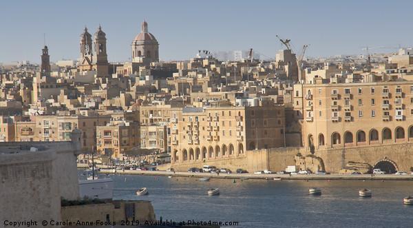 Valletta, Malta Framed Mounted Print by Carole-Anne Fooks