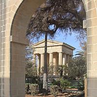 Buy canvas prints of Lower Barrakka Gardens, Valletta, Malta by Carole-Anne Fooks
