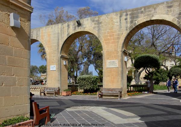 Upper Barrakka Gardens, Valletta, Malta.  Canvas Print by Carole-Anne Fooks