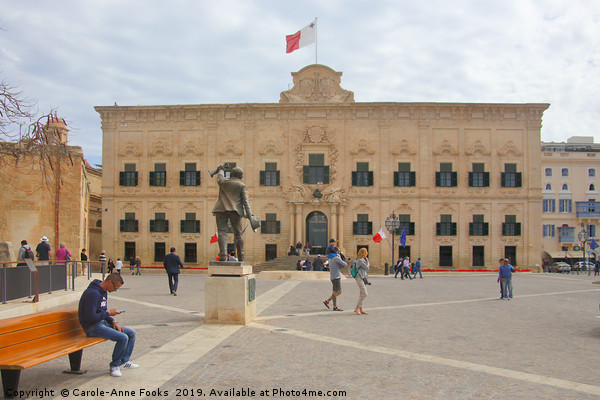 Valletta, Malta Canvas print by Carole-Anne Fooks